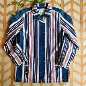VTG | Ralph Lauren Striped Denim Jacket